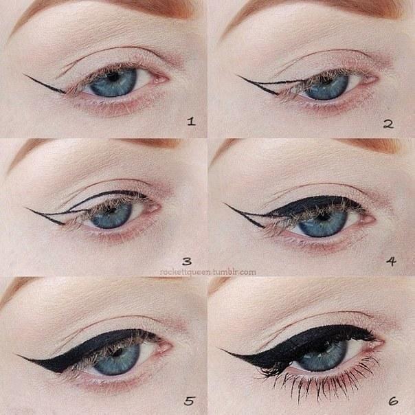 Стрелки на глазах пошаговая инструкции